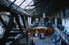 The inside of the Old Jameson Distillery where you can take a tour