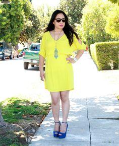 Brides maid colors? Mmm I think I like the yellow dress n blue shoes a lot!