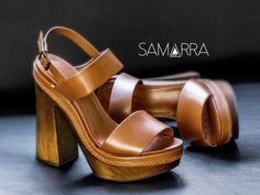 Salto block de madeira. #shoes #shoeslover #summeroutfit