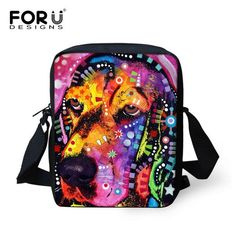 FORUDESIGNS Colorful Animal Cat Pug Dog Pattern Children School Bags Small Baby Girls Book Shoulder Bags Kindergarten Mochila