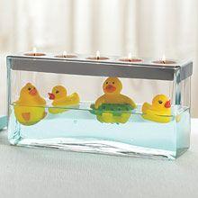 Just Ducky. Cute Baby Shower Centerpiece. Follow at: www.partylite.biz/jenhardy www.facebook.com/partyhardyjen #jenhardyyourcandlelady