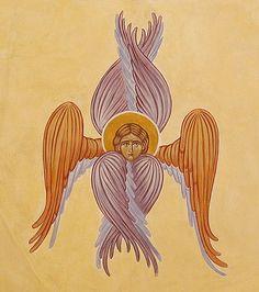 Seraphim [fresco] painted by Marchela Dimitrova
