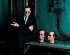 Hugo Weaving - Matrix Revolutions backstage
