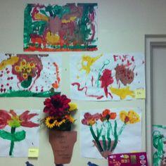 Van Gogh Sunflowers by Preschoolers