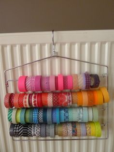 washi tape organizer - love this storage idea... now I have a reason to buy more tape!
