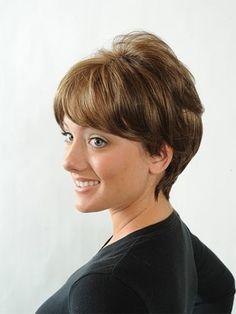 Trendy Auburn Straight Short Synthetic Wigs, Synthetic Hair False