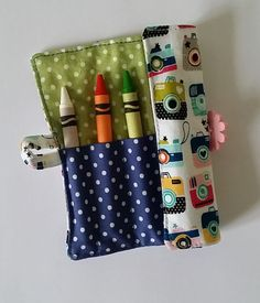 Your place to buy and sell all things handmade Kids Colouring, Crayon Roll, Crayon Holder, Color Crayons, Stocking Fillers, Party Bags, Wedding Favours, Buttonholes, Small Gifts