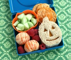 jack-o-lantern sandwich bento by anotherlunch.com