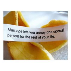 Shop Funny fortune Cookie Marriage Joke Postcard created by HTMimages. Best Wedding Quotes, Wedding Planning Quotes, Best Man Wedding Speeches, Funny Fortune Cookies, Fortune Cookie Messages, Funny Wedding Cards, Wedding Humor, Funny Wedding Toasts, Funny Fortunes