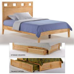 The Tamarind Wood Platform Bed in Natural Transitional Design Blends Any Decor Eco-Friendly Plantation Grown Wood Optional Under Bed Storage Drawers Optional Folding Footboard Bench Best Platform Beds, Platform Bed With Storage, Modern Platform Bed, Wood Platform Bed, Under Bed Storage, Colorful Furniture, Cheap Furniture, Full Bed Frame, Night And Day Furniture
