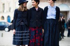 On the Streets of Paris Fashion Week Fall 2014 - great skirts