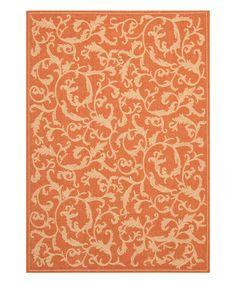 Look what I found on #zulily! Terra-cotta & Natural Logan Indoor/Outdoor Rug #zulilyfinds