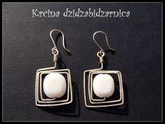 silver plated wire wrap earrings