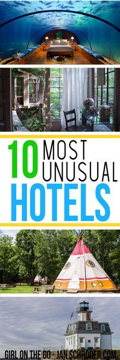 Looking for a unique place to stay? These 10 hotels will certainly be a place to remember! Click to see them all. #usa  ***************************************** Travel inspiration | Travel destinations | USA travel | Atlanta | Florida | Connecticut | Rho