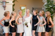 different bridesmaids dresses black and white www.jennymorrissey.com