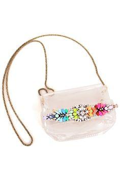 ROMWE | Diamante Metal Chain Transparent Bag, The Latest Street Fashion