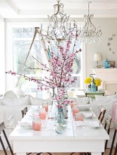 adding some chandeliers into your shabby chic home