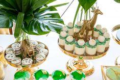 Modern safari party feature - Lifes Little Celebration Lion Birthday, Jungle Theme Birthday, Baby Boy 1st Birthday Party, Birthday Party Themes, Jungle Theme Parties, Safari Theme Party, Jungle Party, Safari Candy Table, Safari Cakes