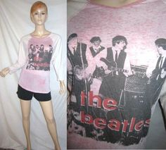NWOT BEATLES Awake by OS Apple Corps Stage Scene Baseball Raglan T Shirt Top M...see more details at this link - http://stores.shop.ebay.com/vintagefluxed