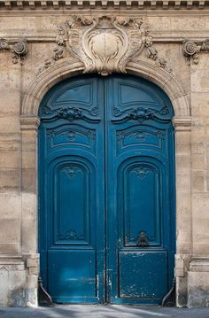 Paris Photography - The Blue Door