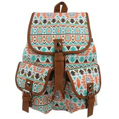 Amazon.com  Ropper Canvas Leather Casual School College Sport Travel  Backpack Bag Schoolbags Satchel for Women Girls Teens (Blue)  Clothing 2582c1426c