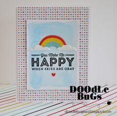 Doodlebugs: Pink Paislee- Hello Sunshine Cards