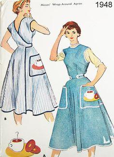 Vintage Apron Pattern McCalls 1948 Vtg by ThePatternSource, $34.00