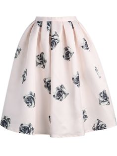 Shop Pink Rose Print Flare Skirt online. Sheinside offers Pink Rose Print Flare Skirt & more to fit your fashionable needs. Free Shipping Worldwide!, $22.17