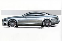 Mercedes-Benz-S-Class-Coupe-sketch-side.jpg (729×486)