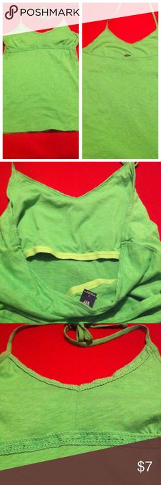 Green Gap Halter Top (ties around neck) Green Gap Halter Top Size Large (ties around neck) see pics GAP Tops