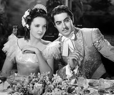 """Linda Darnell and Tyrone Power in """"The Mark of Zorro"""", 1940 Hollywood Icons, Golden Age Of Hollywood, Classic Hollywood, Old Hollywood, Tyrone Power, Loretta Young, Errol Flynn, Jesse James, Classic Movie Stars"""
