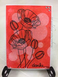 Mohnblumen Karte, Poppy card, Technique Tuesday