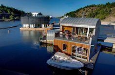 Schwimmendes Ferienhaus in Nacka, Schweden