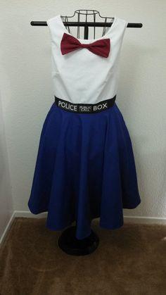 Retro 60's Style Tardis DressMTO by JinxNSparkyCrafts on Etsy, $100.00