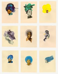 Lorna Simpson | Ebony Collages | Art | via Missmoss