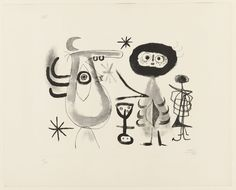 Joan Miró. Plate 6 from Album 13. 1948. Lithograph. Purchase. 147.1949.4. © 2016 Successió  Miró / Artists Rights Society (ARS), New York / ADAGP, Paris. Drawings and Prints Le personnage à l'air lunatique, non?