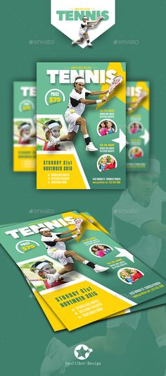 Buy Tennis Camp Flyer Templates by grafilker on GraphicRiver. Tennis Camp Flyer Templates Fully layered INDD Fully layered PSD 300 Dpi, CMYK IDML format open Indesign or later.