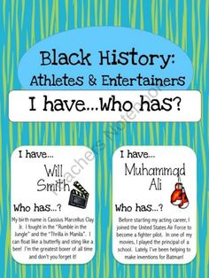 This activity could be used for any historical figures, not only for black history. This is an interactive way for students to learn fun facts and implications of important historical figures!