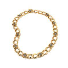 Bellezza Labradorite Station Curb Link Necklace