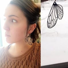 $10 Transparent butterfly wing earrings These are one of a kind custom butterfly wing earrings are durable and adorable. Lightweight and feminine. Jewelry Earrings