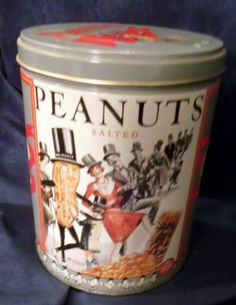 Limited Edition Planter's Mr. Peanut Storage Tin, Vintage by HeronBlueVintage on Etsy