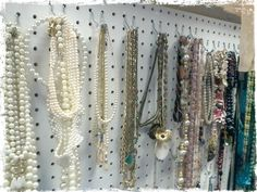 Necklaces on display. A small selection of our jewellery.