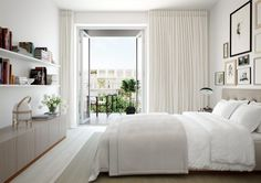 alexander white_scandinavian apartment_rendering_bedroom
