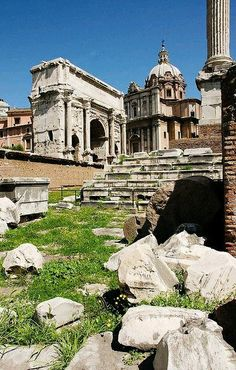 Avenida de los Foros Romanos. Roma Italia