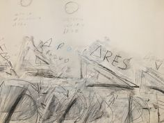 """Cy Twombly, detail of """"Fifty Days at Iliam,"""" Philadelphia Museum of Art"""