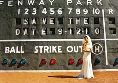 I love this picture!!! How cool would it be to have pictures made on your special day in a baseball stadium esp. Fenway Park!!!!