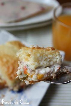 Torta de atum, já fiz, fica  cremosamente deliciosa!