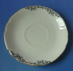 Old Antique Czechoslovakia Pottery China VICTORIA Saucer Collectibles Decor #188
