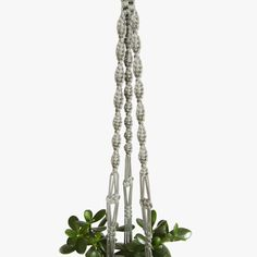 50 inches Gray Spiral Plant Holder - 5mm - Thick Cord Hanging Planter Great Decor Idea - Ceiling Macrame Plant Hanger - Indoor - Outdoor by DanceOfTheSoul on Etsy