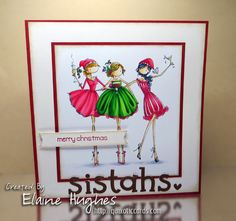 Merry Christmas Sistahs! – Quixotic Cards    #rubberstamps #stamping #cards #papercrafts